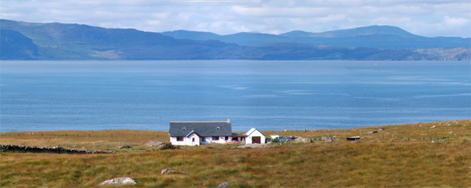 Carn-Raineach with Raasay and Skye in the background